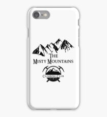 Misty Mountains Climbing Club, LOTR Parody  iPhone Case/Skin
