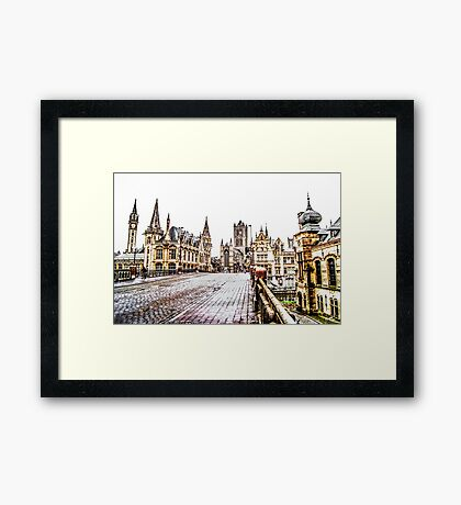 Old Town Gand Framed Print