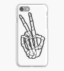 Peace Out Skeleton Hand-LIMITED TIME ONLY iPhone Case/Skin