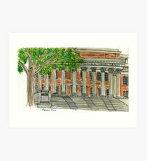 Widener Library Art Print
