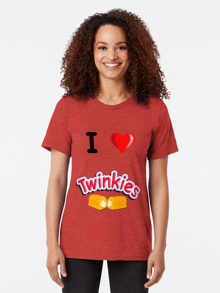 Alternate view of I Love Twinkies Tri-blend T-Shirt
