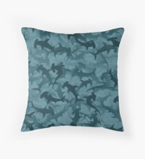 Hammerheads sharks Throw Pillow