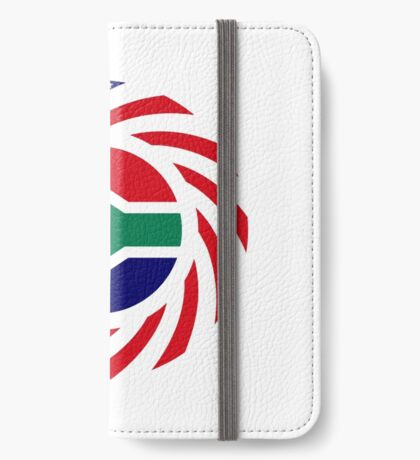 South African American Multinational Patriot Flag Series iPhone Wallet