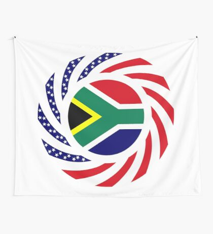 South African American Multinational Patriot Flag Series Wall Tapestry