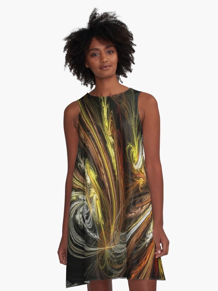Festive A-Line Dress Front