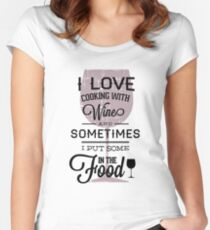 Humor text Design Women's Fitted Scoop T-Shirt