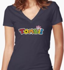 Tombi Tomba Women's Fitted V-Neck T-Shirt