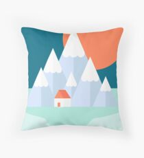 Snow Valley Throw Pillow