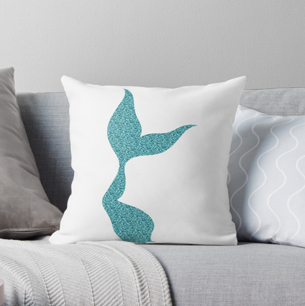 Glittery Mermaid Tail Cojín