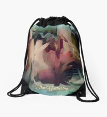 The Gathering - Abstract by Sherri Of Palm Springs Drawstring Bag