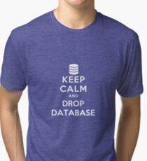 Keep calm and drop database Tri-blend T-Shirt