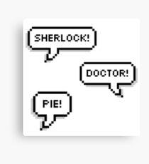 Sherlock Doctor Pie Canvas Print