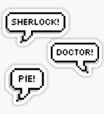 Sherlock Doctor Pie Sticker