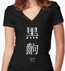 BLACK FRAME - Monogatari Series t-shirt / Phone case / Mug Women's Fitted V-Neck T-Shirt
