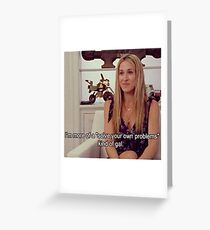 Carrie Bradshaw Greeting Card
