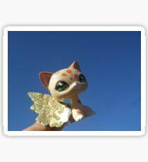 LPS Littlest Pet Shop Winged Cat Blue Sky Sticker