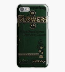 Victorian Book On Flowers iPhone Case/Skin