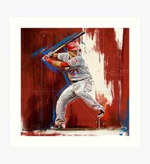 Mike Trout - Los Angeles Angels Art Print