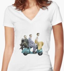 Audrey Hepburn: Roman Holiday Fitted V-Neck T-Shirt