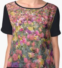 Meshed Up Colourful Summer Tulip Field Chiffon Top