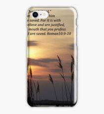 Romans 10:9-10 iPhone Case/Skin