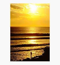 Sunset and a Surfer Photographic Print
