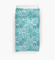 Moroccan vector pattern in turquiose Duvet Cover