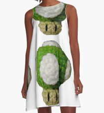 Knitted Extra Life Mushroom A-Line Dress