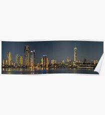 Surfers Paradise, Gold Coast at night Poster