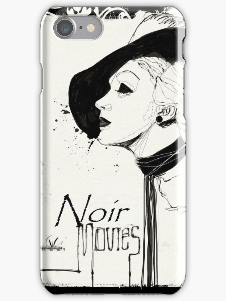 Film noir iphone cases skins by alchimia redbubble for Film noir t shirts