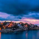 Waiting for dawn at Cala d'Enmig - panorama by Ralph Goldsmith