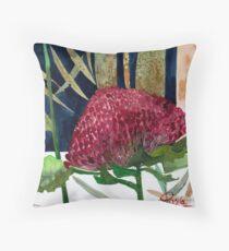 Australian Waratah  Throw Pillow