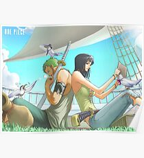 Zoro & Nico Robin Poster