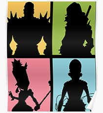Honnōji Academy Elite Four Poster