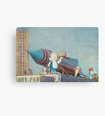 Astroland Park Retro Canvas Print