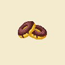 Pixel Food Series - Chocolate Donuts by TheGreys