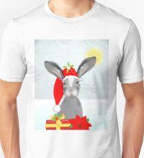 Cute Rabbit Christmas Holidays Themed Whimsy Design T-Shirt