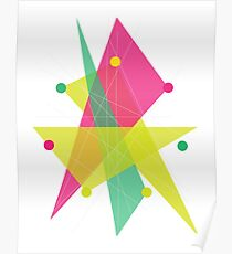 Abstract Heptagon Poster