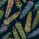 Hand-Ertrinken Federn Muster von Viktoriia