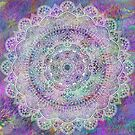 White Mandala on Pastel Purples by WelshPixie