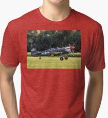 Curtiss P-40M Kittyhawk 43-5802 G-KITT Tri-blend T-Shirt