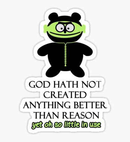 Prophet: God created Reason VRS2 Sticker
