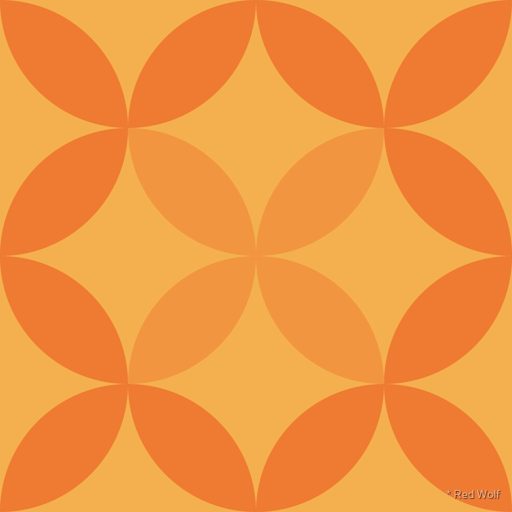 Geometric Pattern: Circle Nested: Citrus by * Red Wolf