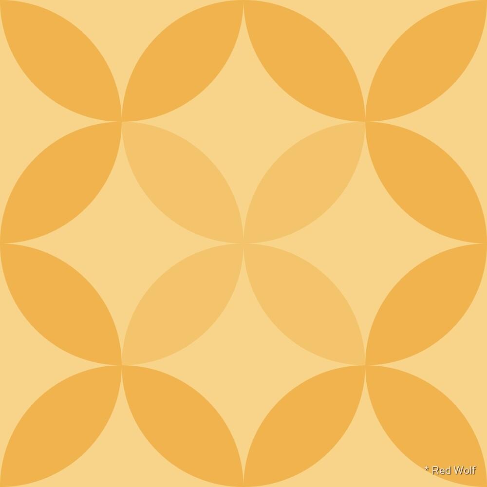 Geometric Pattern: Circle Nested: Lemon by * Red Wolf