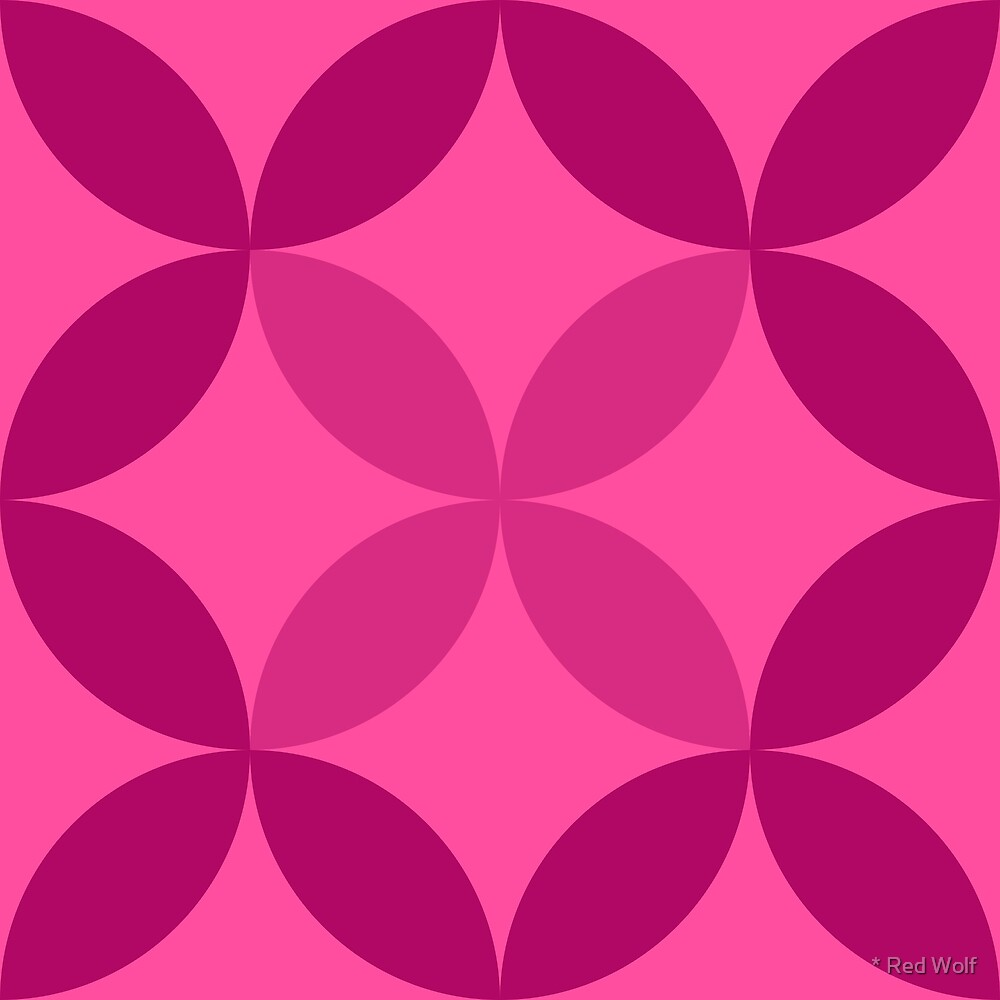 Geometric Pattern: Circle Nested: Berry by * Red Wolf