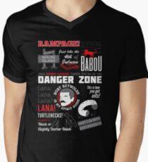 Camiseta de cuello en V Llamar a Kenny Loggins