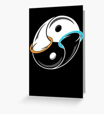 Darkness and Light...and Portals Greeting Card