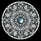 Steel Blue Mandala by WelshPixie