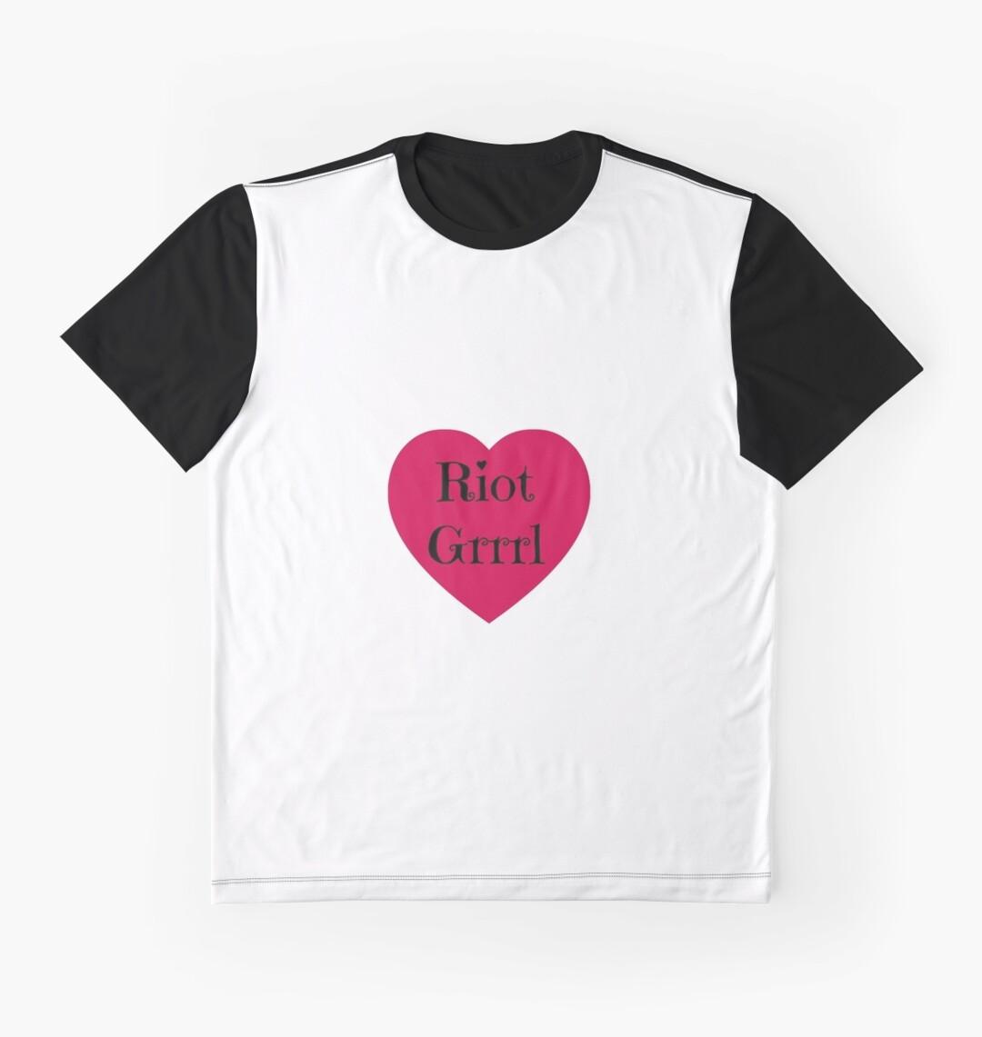 Heart design t shirt - Riot Grrrl Heart Design Feminist Feminism Punk Bikini Kill Graphic T Shirts