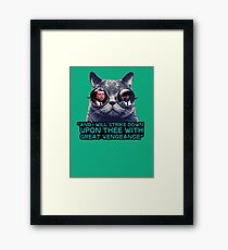 Galaxy cat glasses - pulp fiction quote jules Framed Print